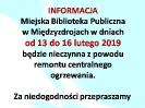 13-17 lutego 2019 r. biblioteka będzie nieczynna