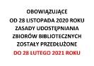 Do 28 lutego obostrzenia w bibliotekach bez zmian
